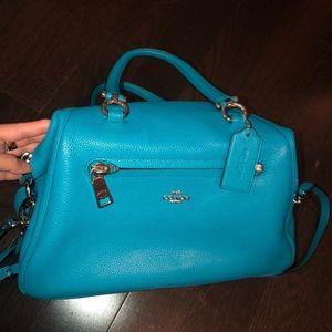 blue/teal stunning coach bag.NWOT